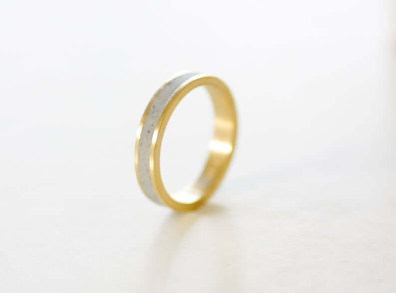 brass-plated gold ring