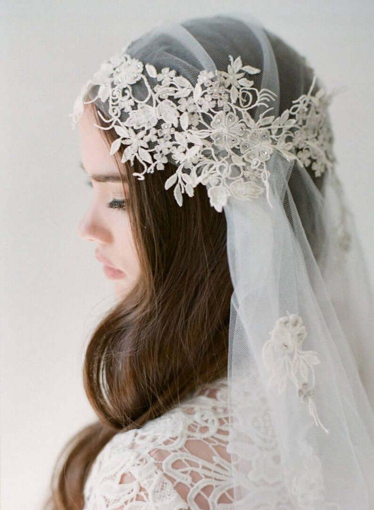bridal cap veil
