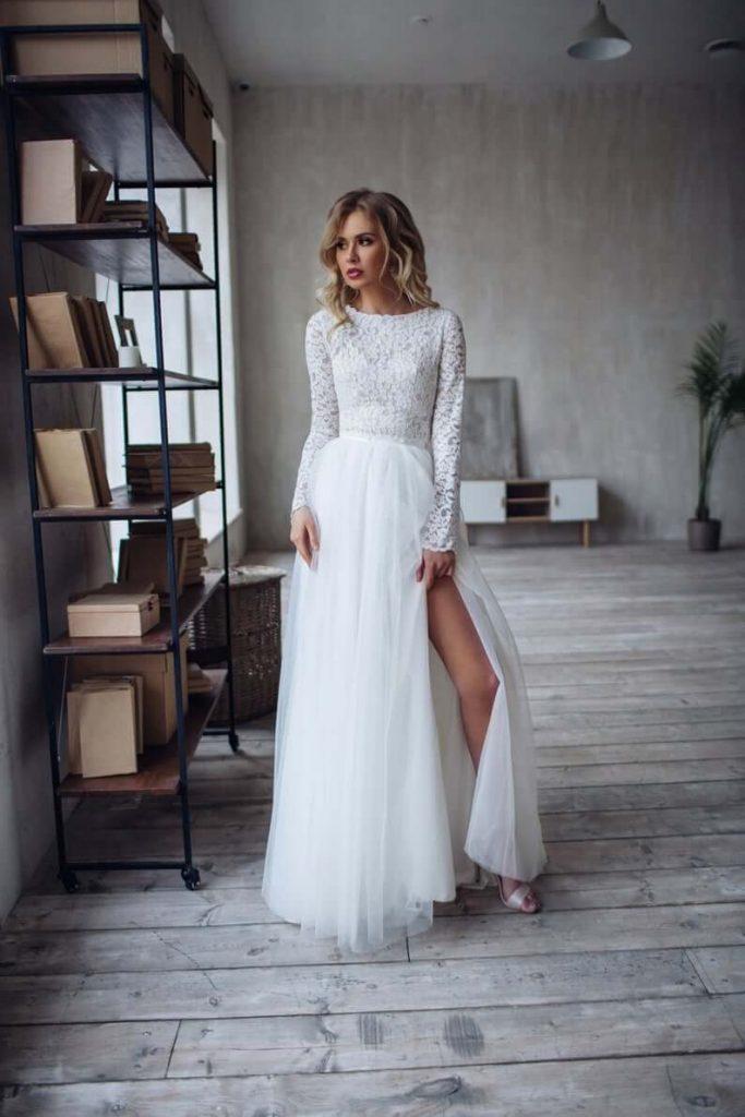 Bridal separates skirt blouse