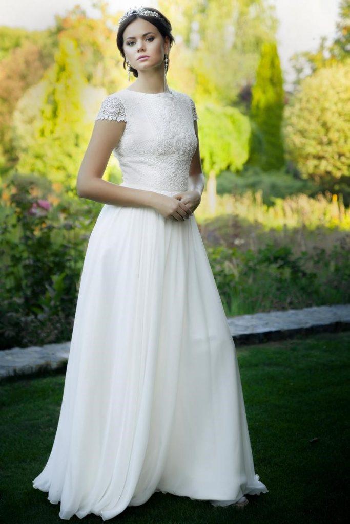 Boho style wedding dress Rustic Simple wedding dress image 2