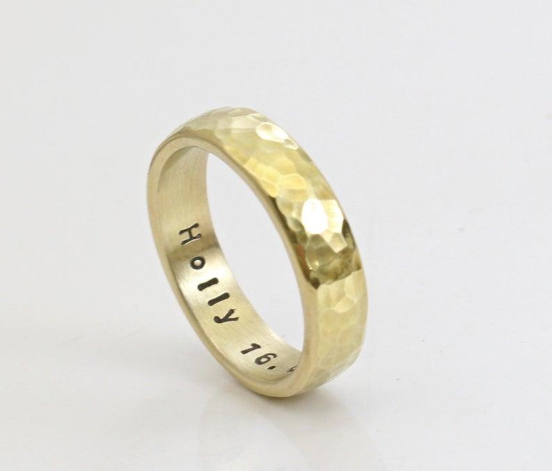 Bronze brass wedding ring