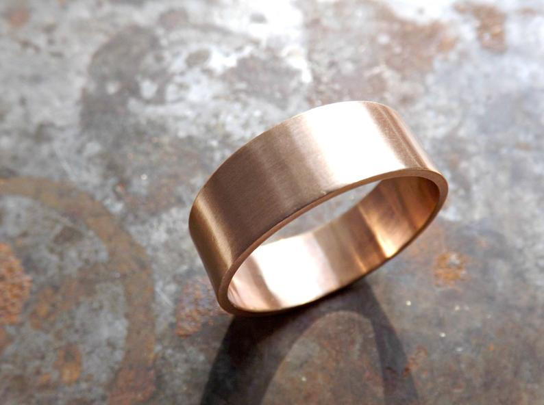 Bronze men's wedding band