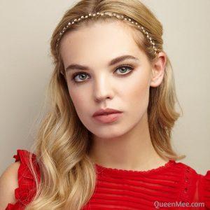 Crystal headband by Queen Mee