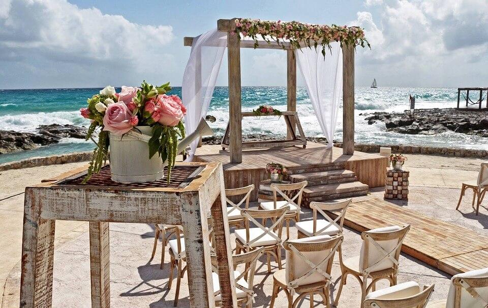 Wedding venue by the sea