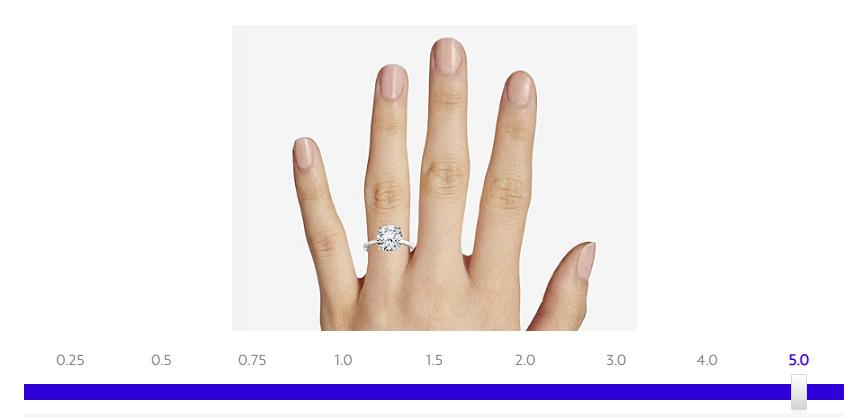 Diamond carat weight tool Blue Nile