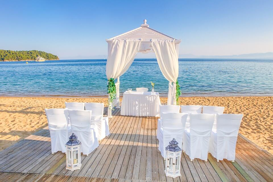 Wedding venue by the sea