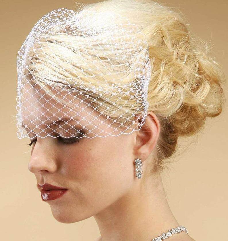 French netting birdcage veil