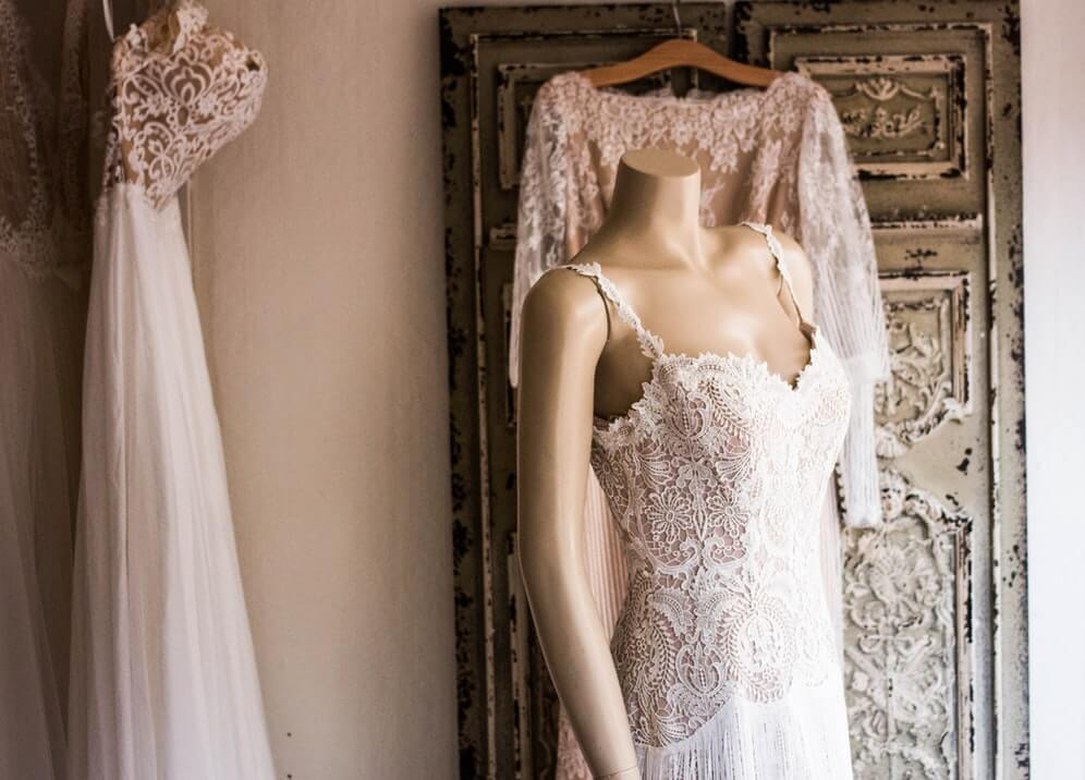 how to take care of your lace wedding dress