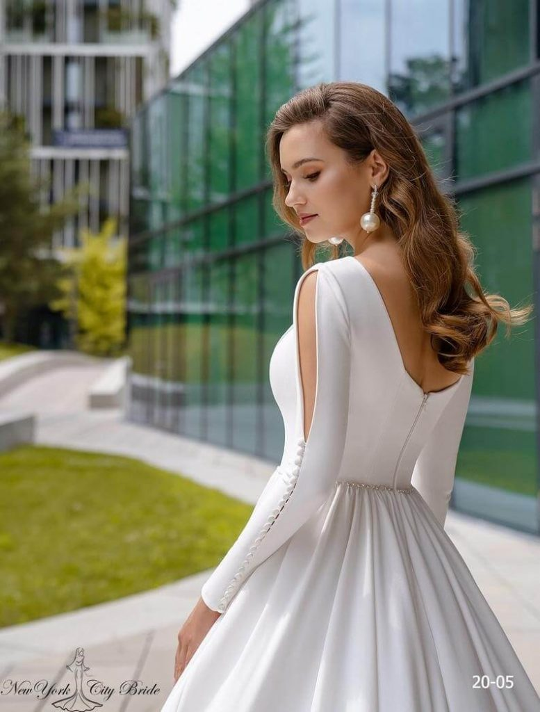 A-line Wedding dress Belen Long sleeve wedding dress image 3