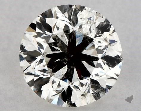 low quality round shape diamond
