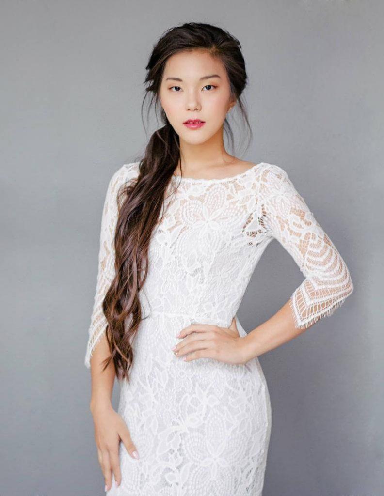 Bride wearing bridal dress
