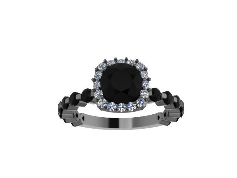 Modern black gold ring