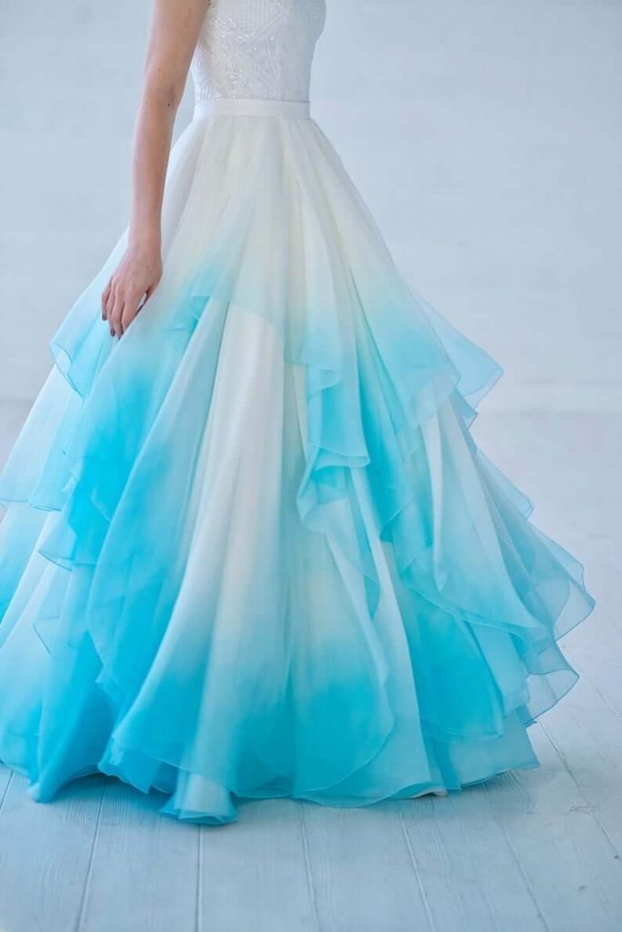 ombre bridal separate dress