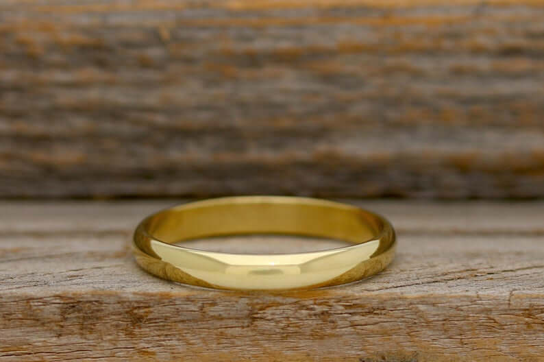 Polished brass ring