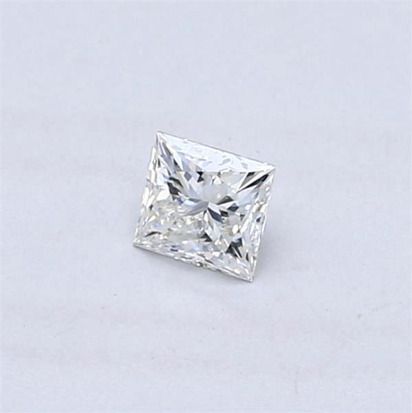 Princess cut diamond closeup