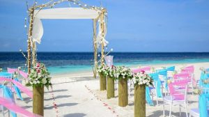 Destination wedding by the sea