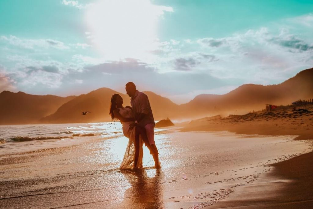 couple in the destination wedding