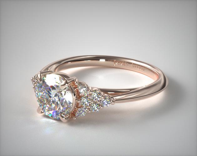 Rose gold engagement ring vintage