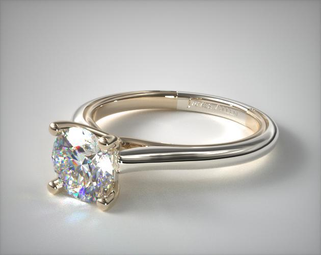 Round cut diamond engagement ring in white gold