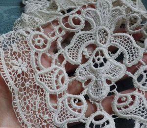 Schiffli lace closeup
