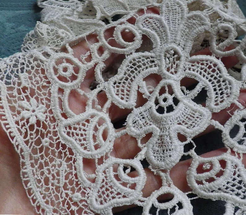 Schiffli lace closeup