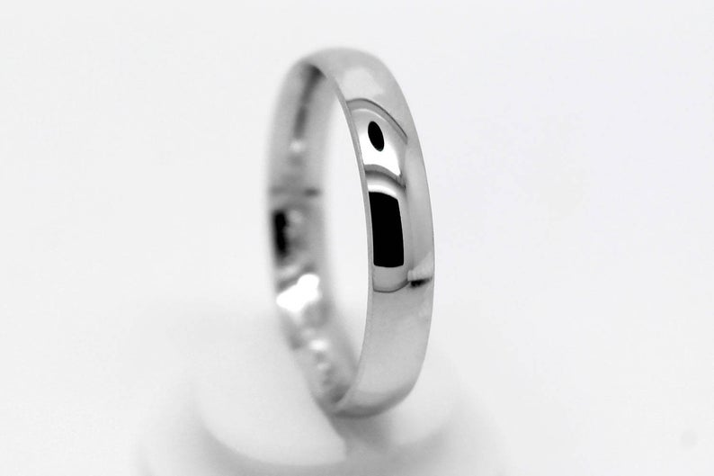 Sterling silver polished ring