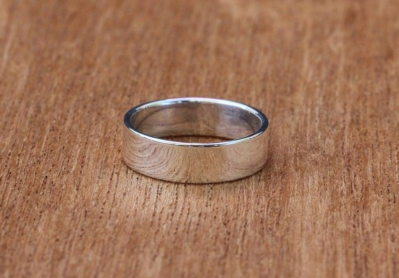 Sterling silver wedding ring