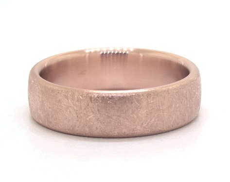 Swirl finish rose gold men wedding band