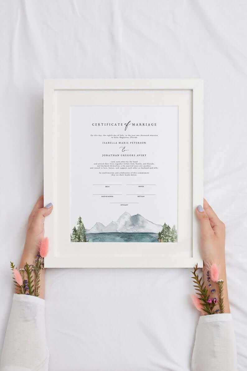 symbolic-wedding-certificate-etsy
