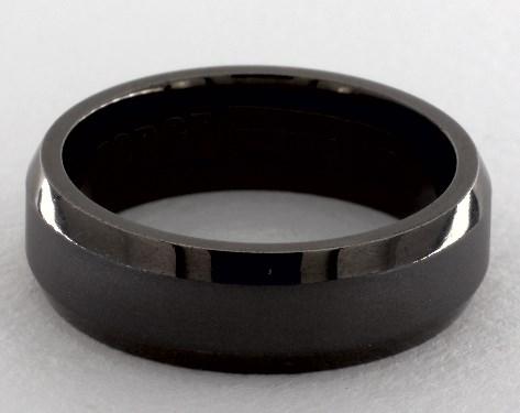Black tantalum wedding ring