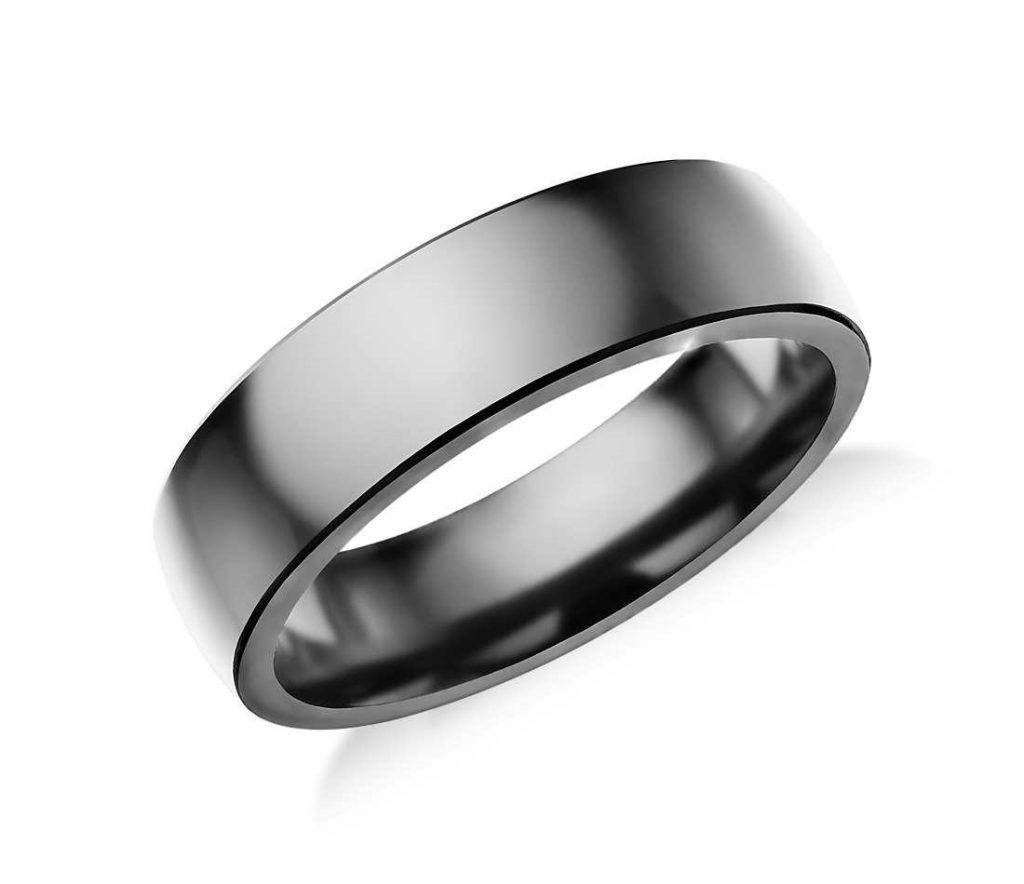 High Polish Tantalum Wedding Ring