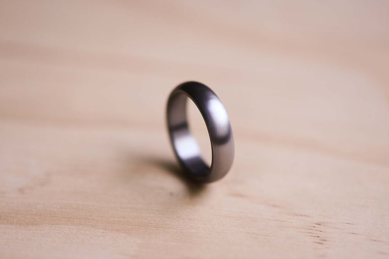 tantalum wedding ring brushed