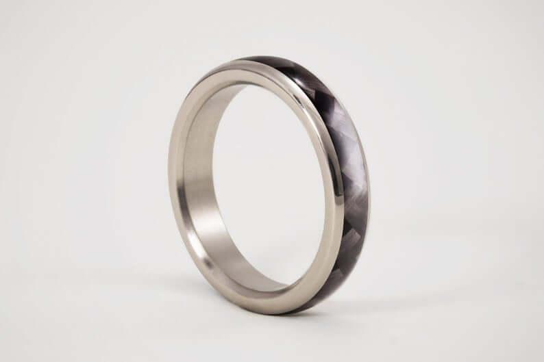 Unisex carbon fiber ring