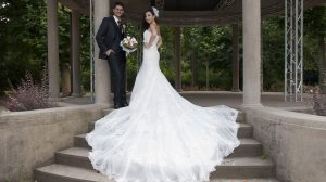 Wedding dress train styles