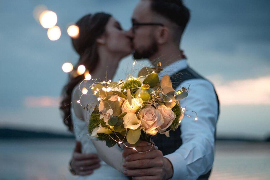 Couple having humanist wedding