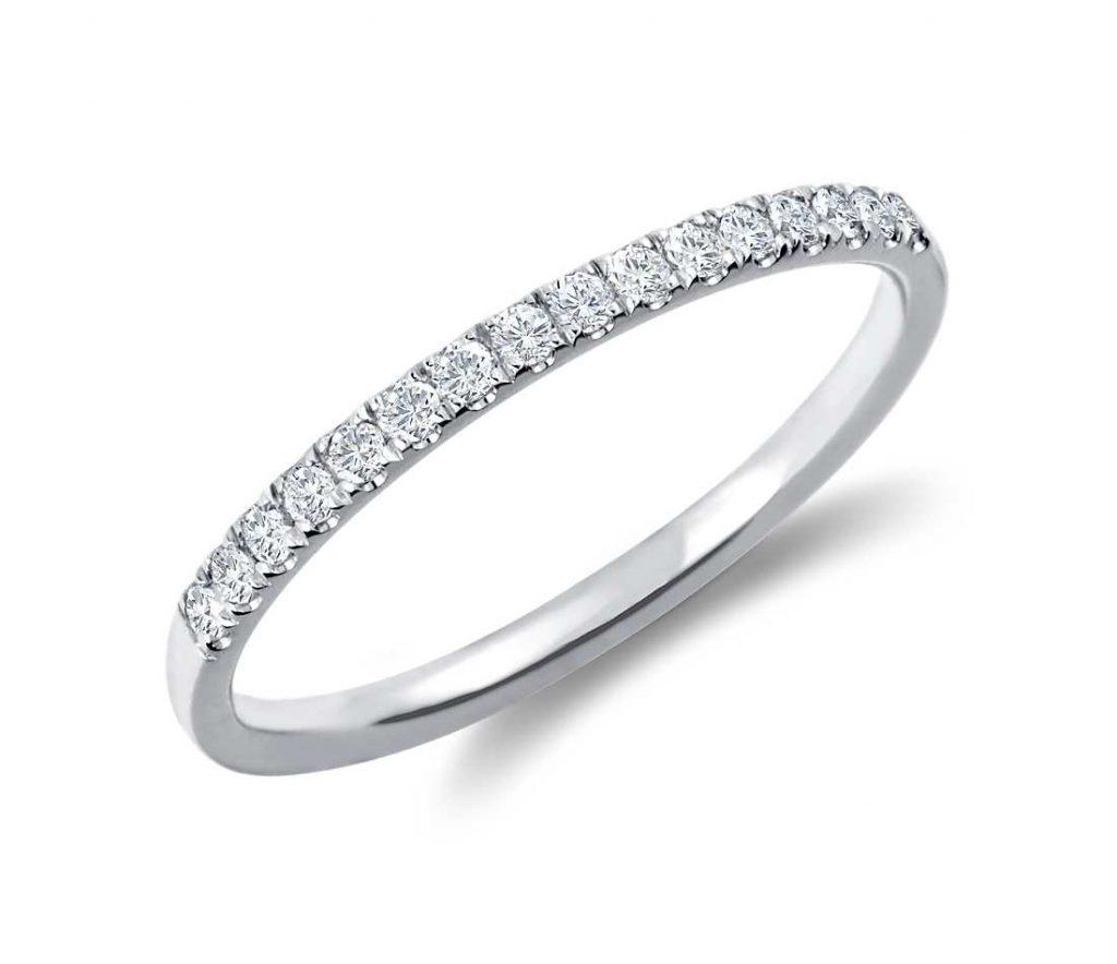 Women white gold wedding ring
