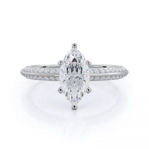 White gold marquise engagement ring