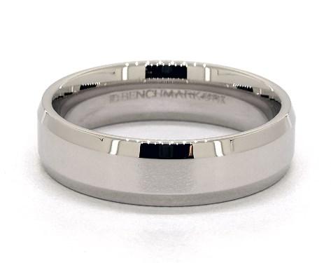 White gold men's wedding ring