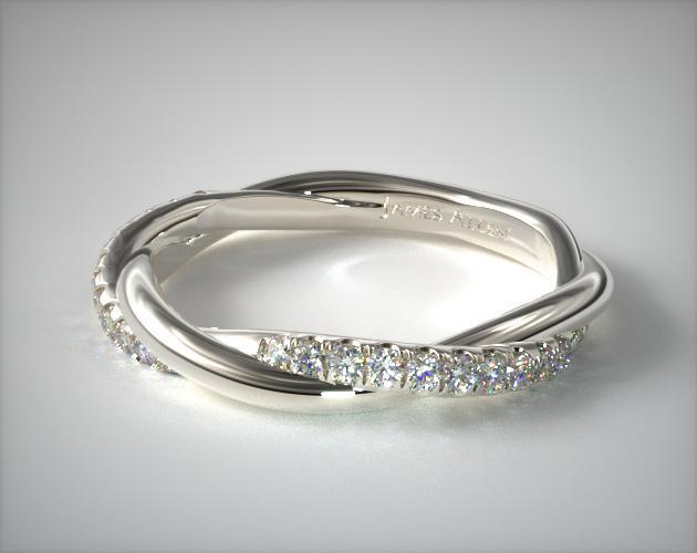 white gold wedding band with diamond