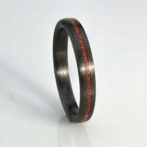 Black women's carbon fiber ring