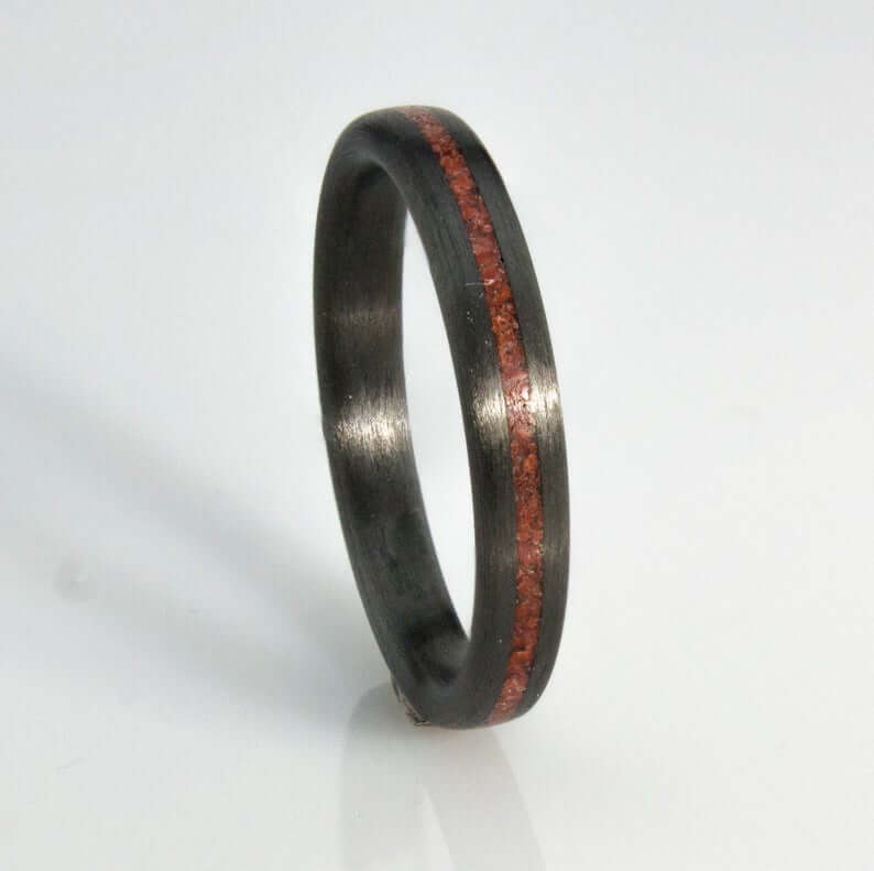 Black women's carbon fiber ring