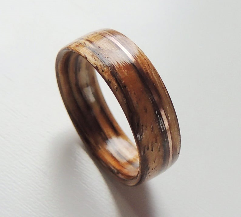 Wooden engagement ring