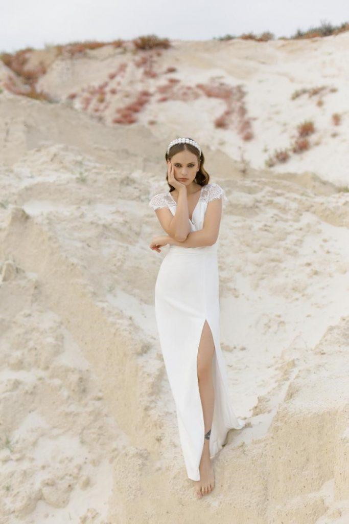 Lace Wedding Dress Modest Wedding Dress Simple Wedding Gown image 1