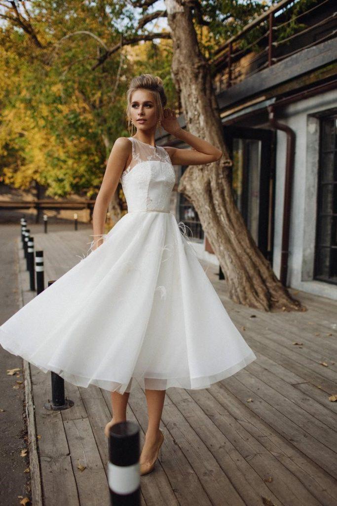 Wedding dress 'STEFANI' // short wedding dress tea image 4
