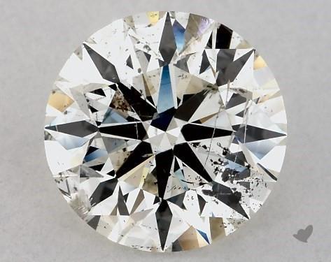 Bad round 2-carat diamond