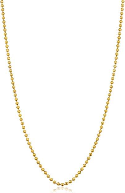 Ball bead gold chain