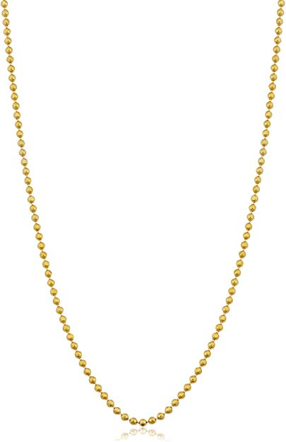 Ball bead gold chain