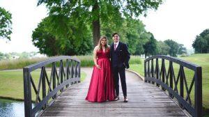 Wedding guest in black tie dress code