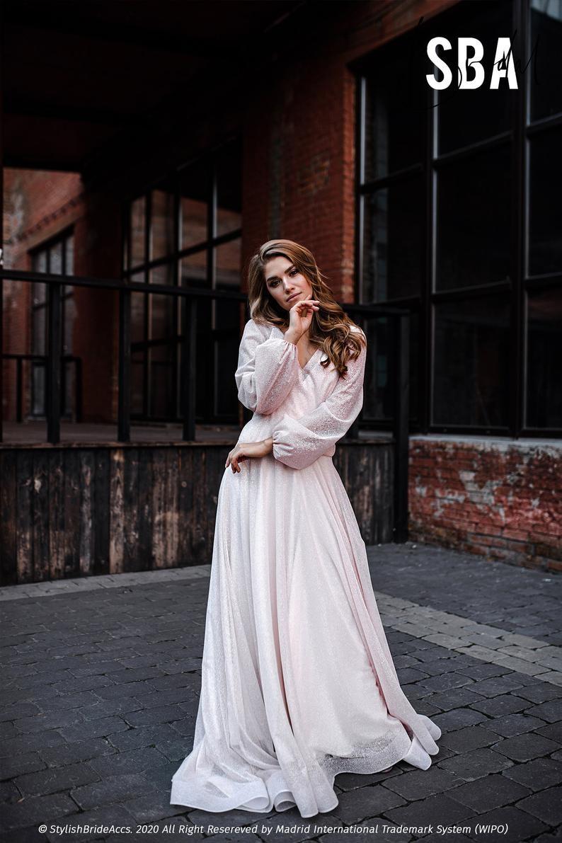 bride-balloon-sleeves-dress-etsy