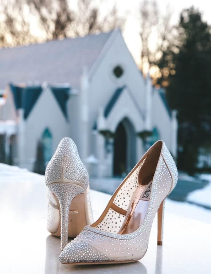 Bride shoes closeup